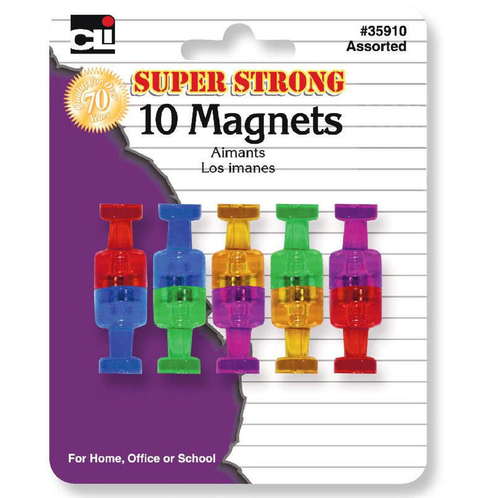 Charles Leonard Super Strong Magnets, 10 Pack