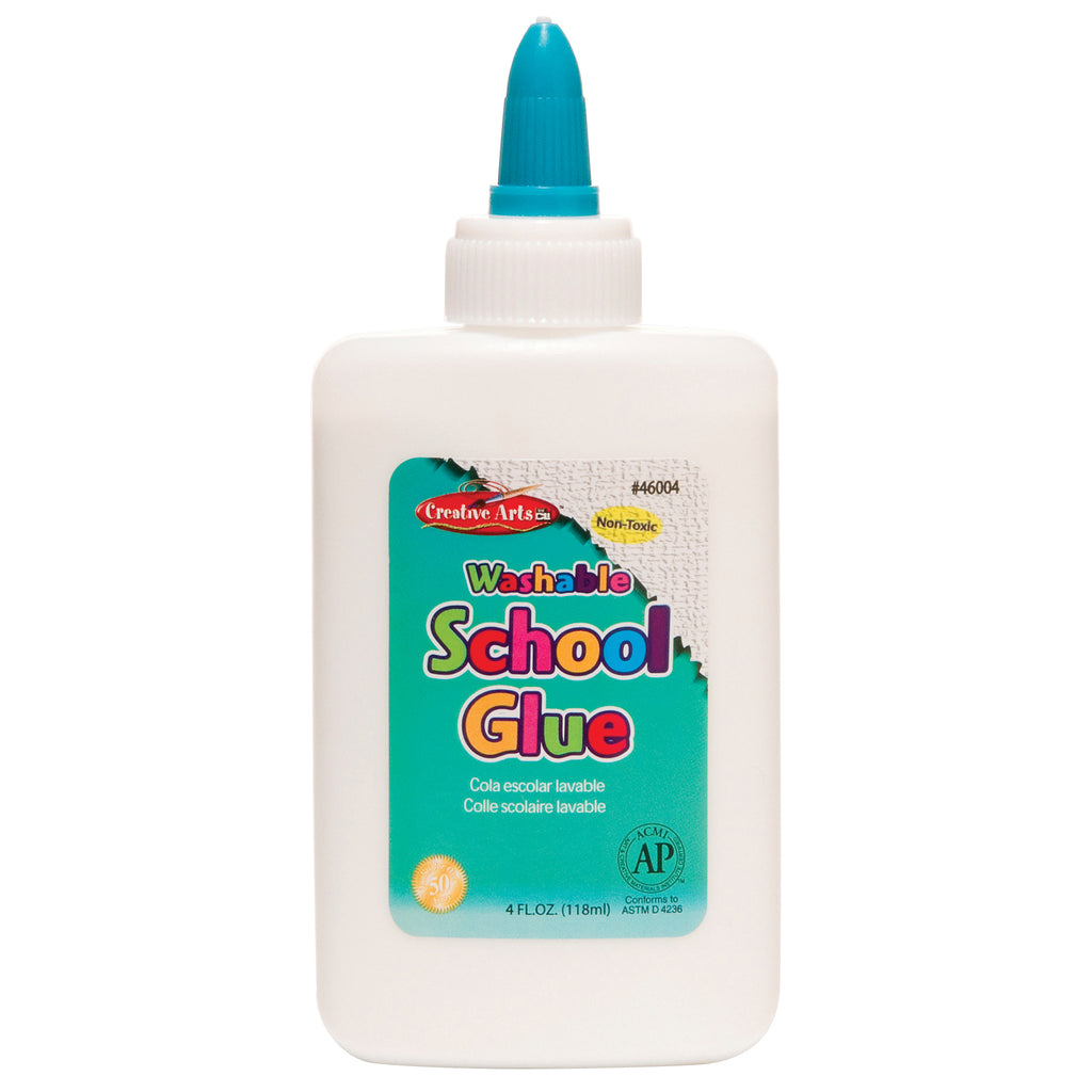 Charles Leonard Washable School Glue, 4 Ounce Bottle