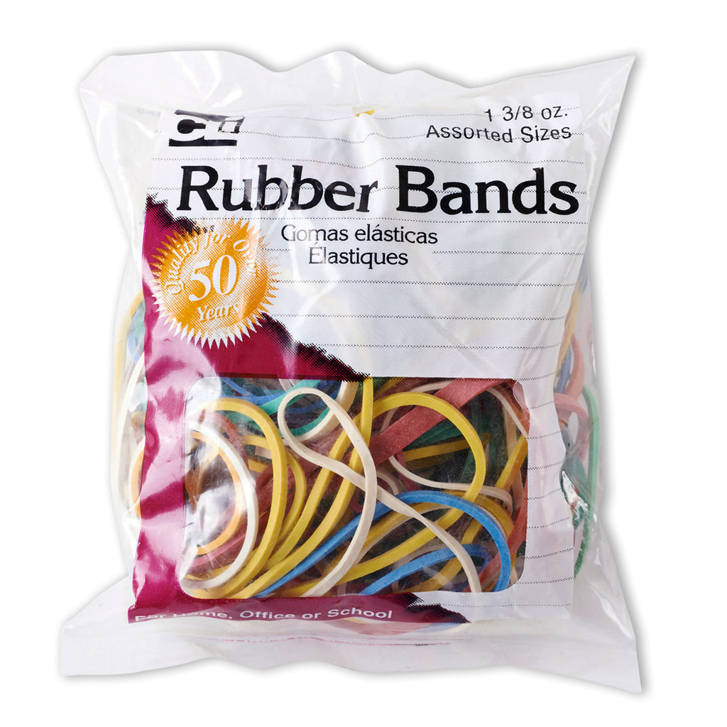 Charles Leonard Rubber Bands, Assorted Sizes & Colors