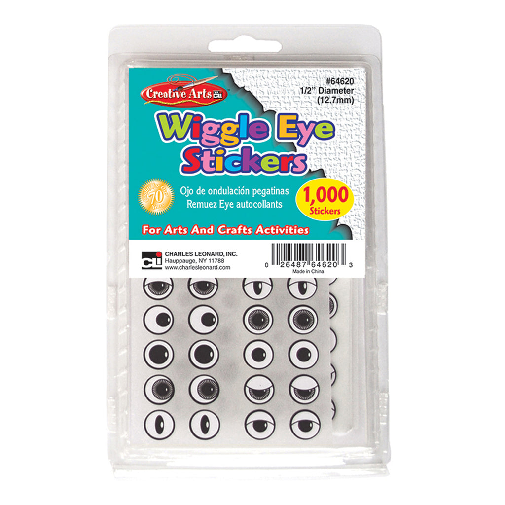Charles Leonard Wiggle Eyes Stickers, Black