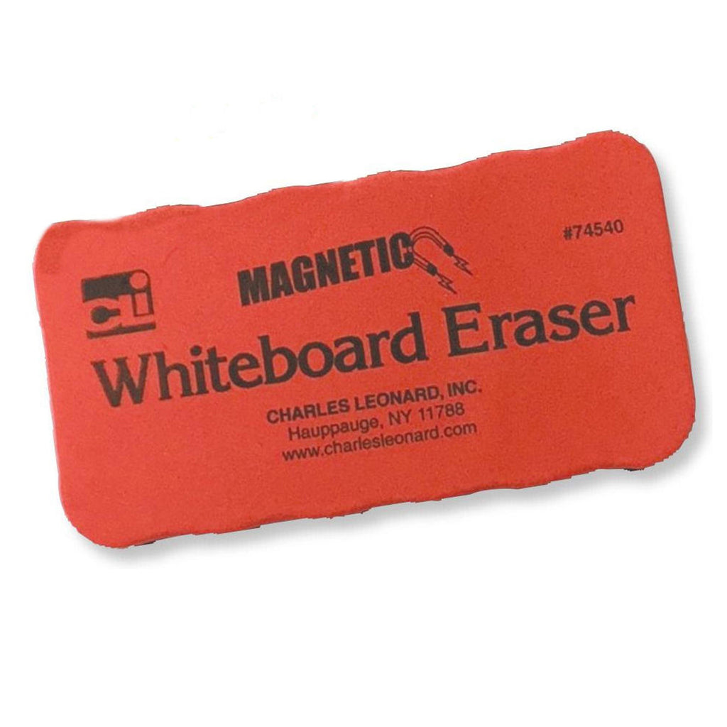 Charles Leonard Red Magnetic Whiteboard Eraser, 12 Pack