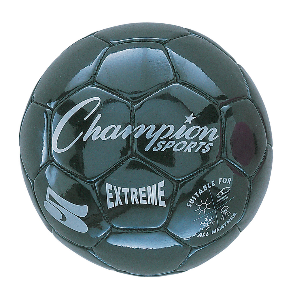 Champion Sports Extreme Soccer Ball, Size 5 Black