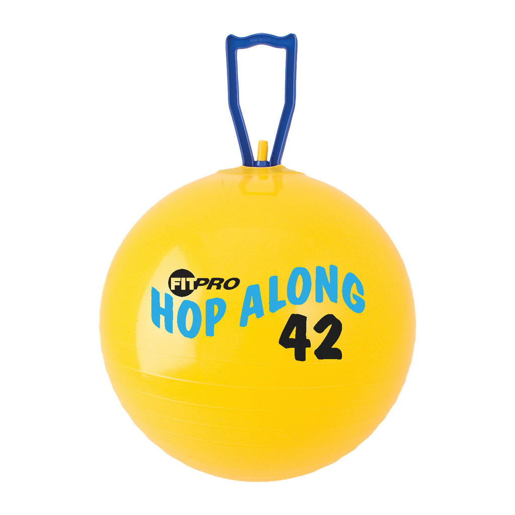 Champion Sports FitPro 16.5In Hop Along Pon Pon Ball Yellow Junior