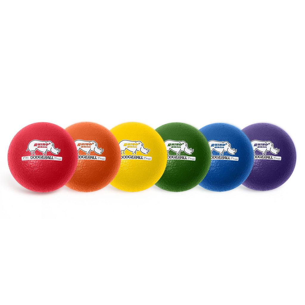 Champion Sports Rhino Skin® 6 Inch Dodgeball, 6 Set Assorted