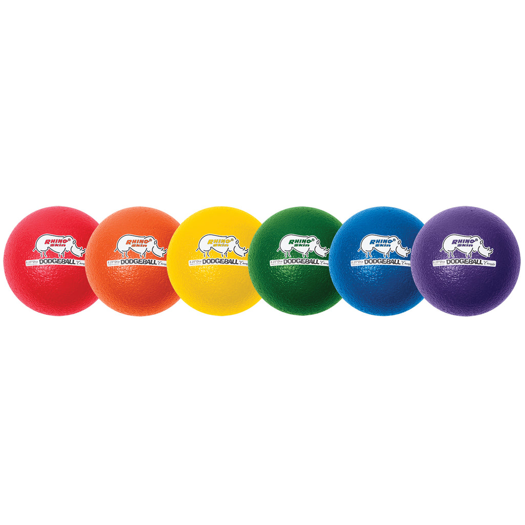 Champion Sports Rhino Skin® Dodge Ball Set, Low Bounce