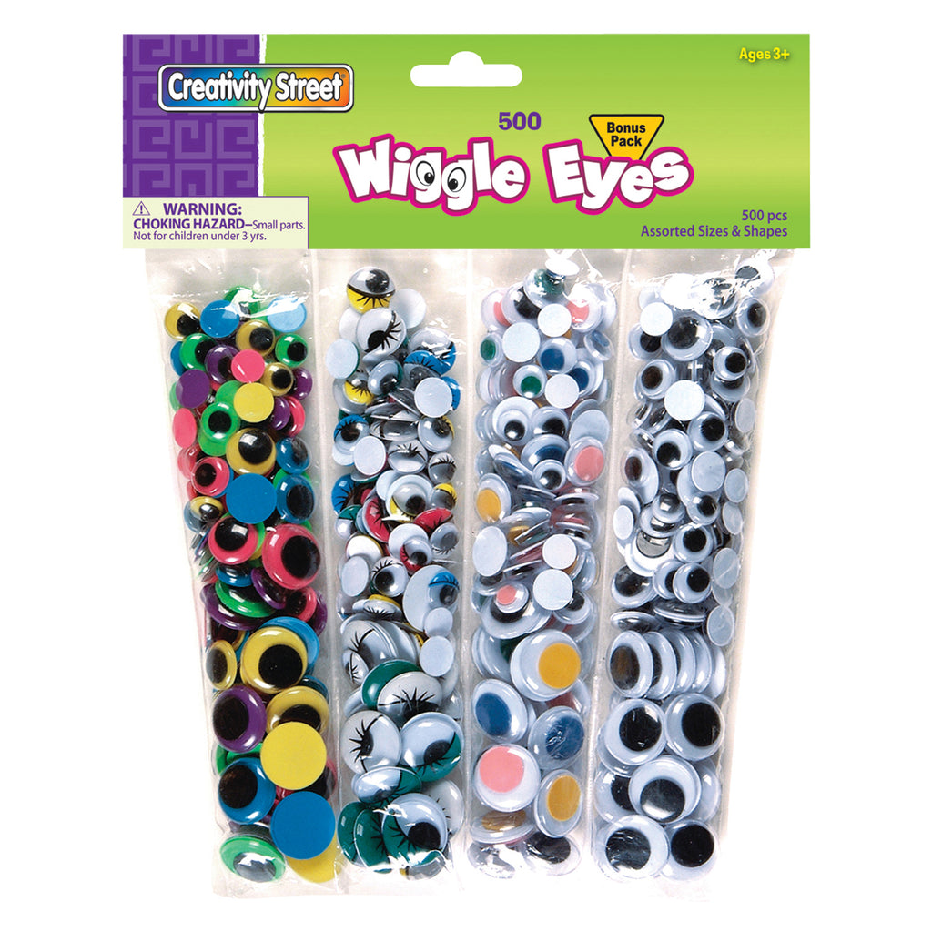 Chenille Kraft Wiggle Eyes Assortment - 500 Pieces