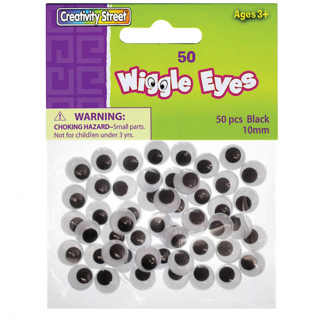 Chenille Kraft Wiggle Eyes - 50 Pack Black