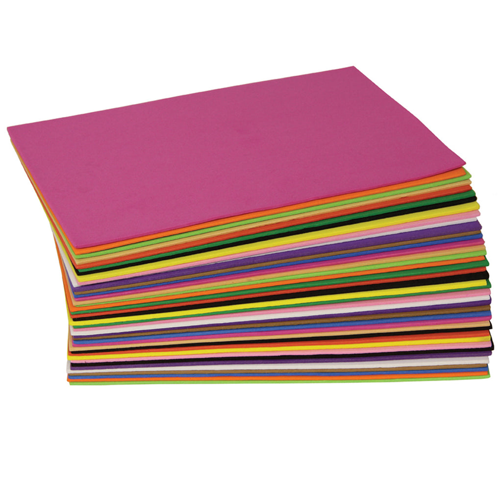 Chenille Kraft WonderFoam® Sheets, Assorted Colors