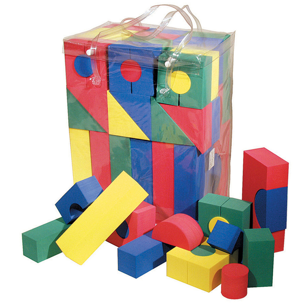 Chenille Kraft WonderFoam® Blocks - 68 Pieces
