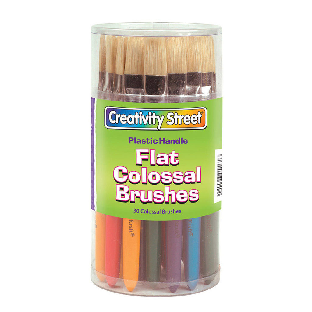 Chenille Kraft Flat Colossal Brush Canister - 30 Pieces
