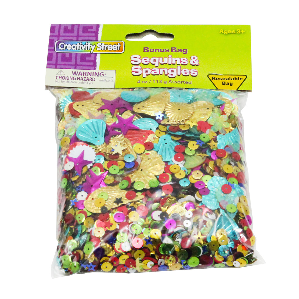 Chenille Kraft Sequins and Spangles - 4 Oz Bag