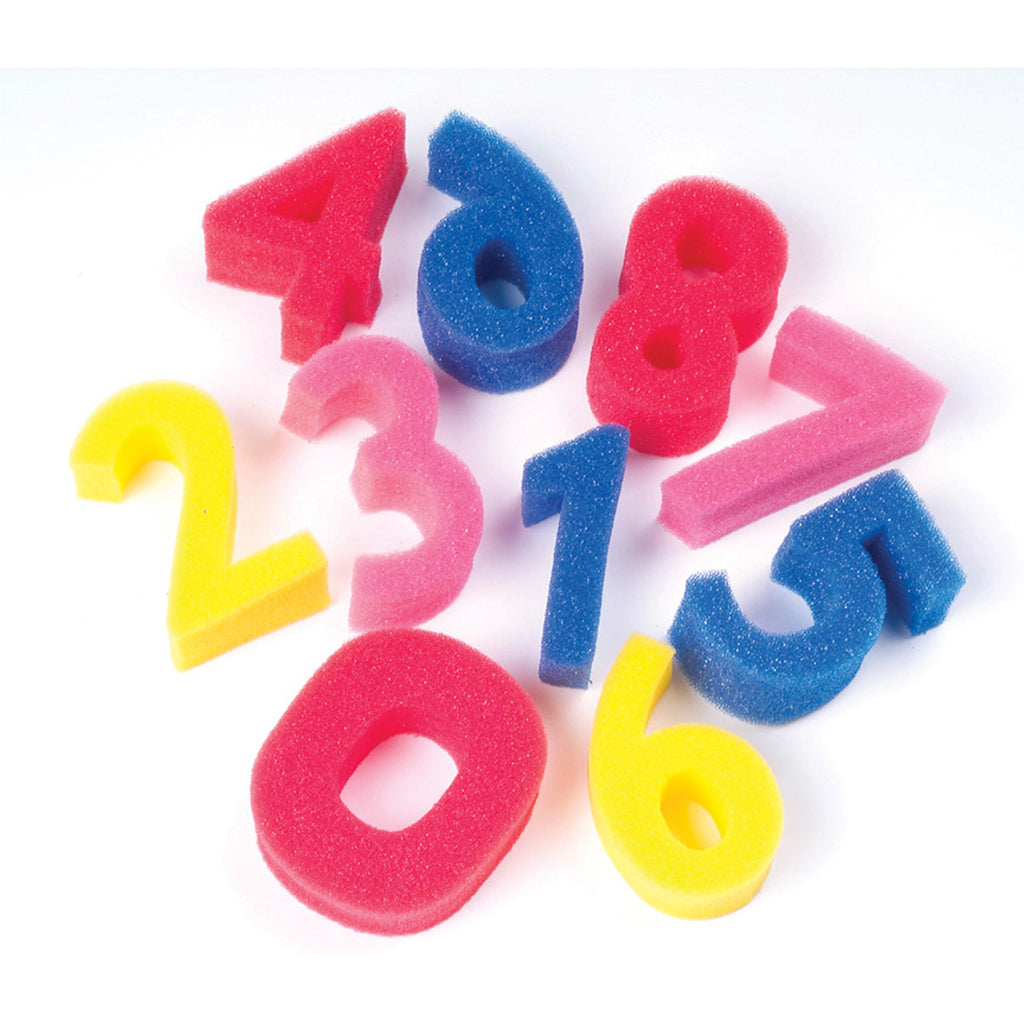 Chenille Kraft Sponge Numbers - 0 to 9