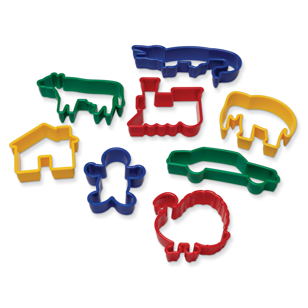 Chenille Kraft Dough Cutters - 8 Animal Shapes