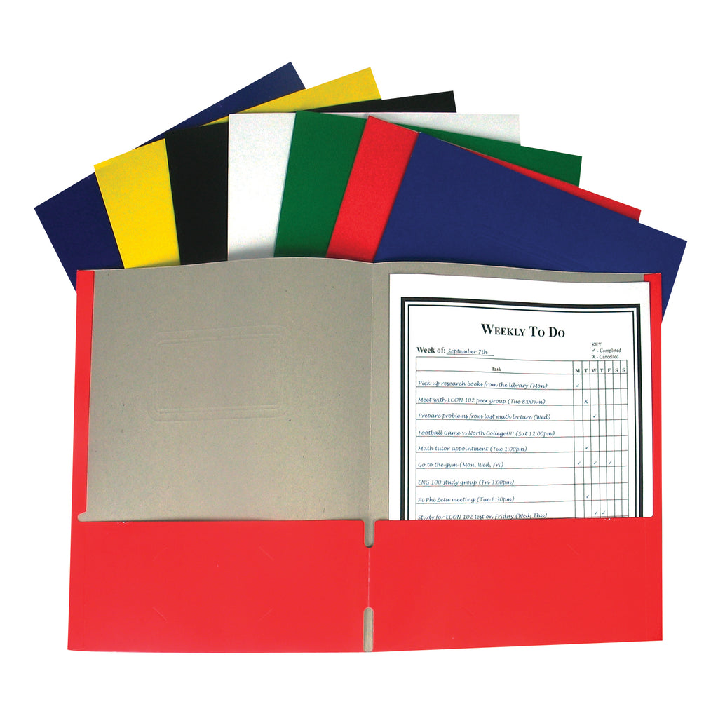 C-Line Products Recycled Two-Pocket Paper Portfolio