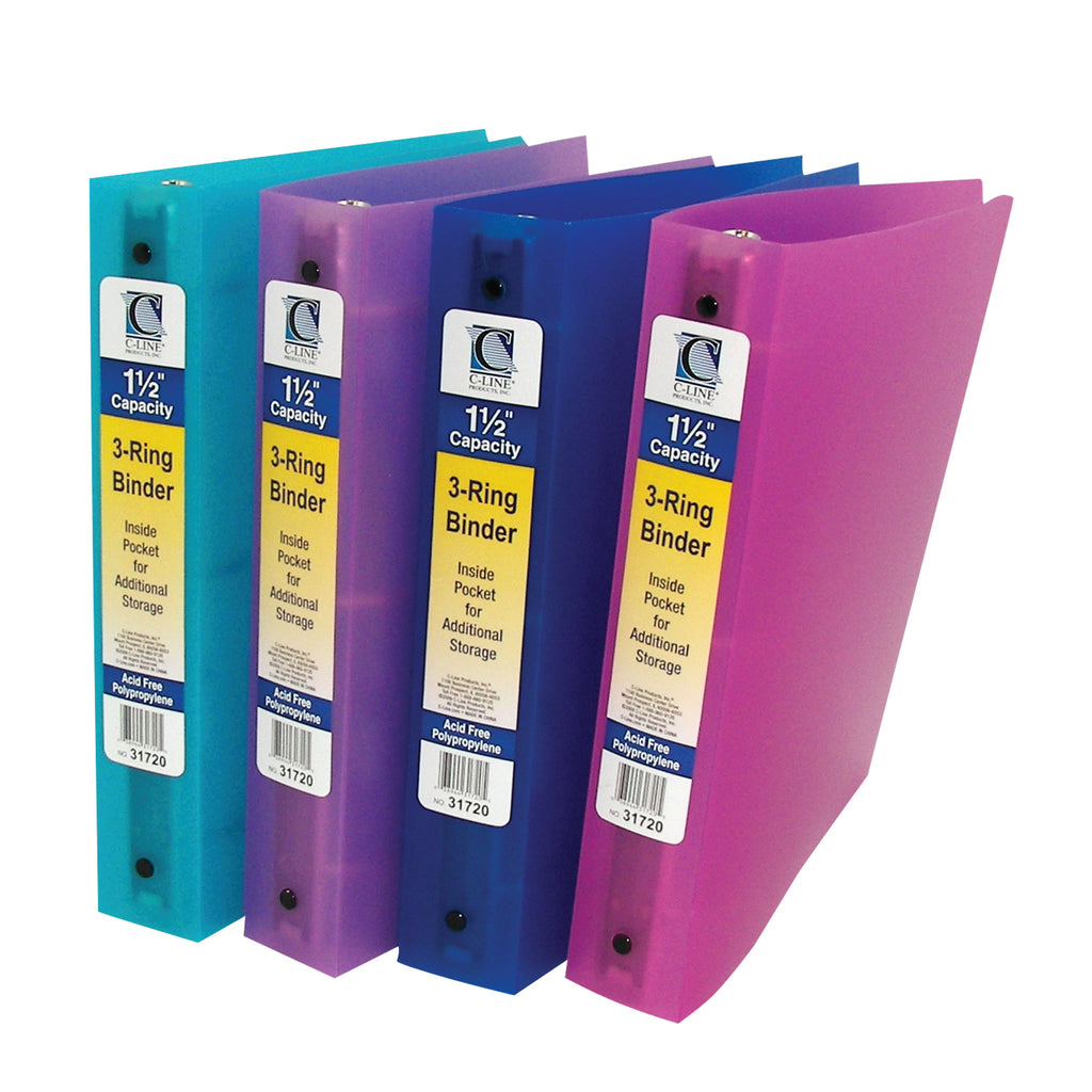 C-Line Products C Line 3 Ring Binder 1.5In Capacity