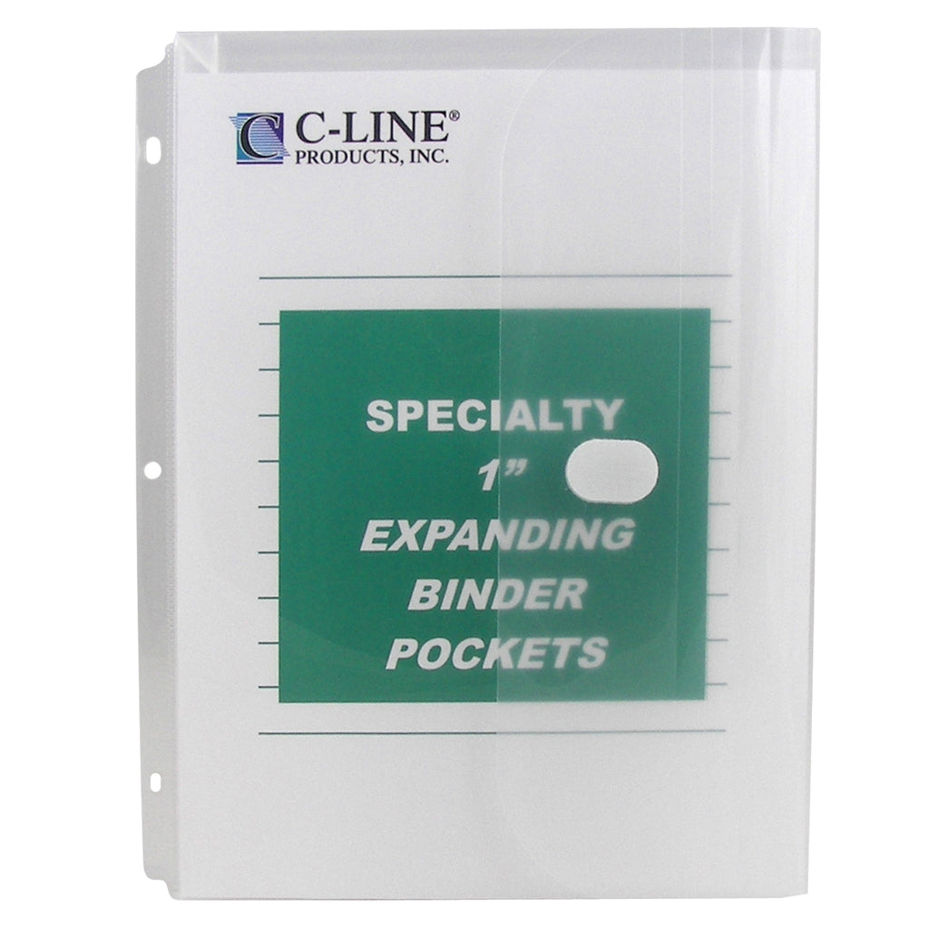 C-Line Products Clear Biodegradable Binder Pocket, 10Pk