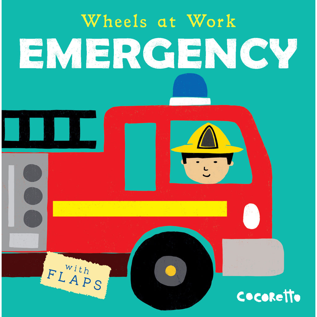 Childs Play Books Wheels at Work: Emergency, Board Book