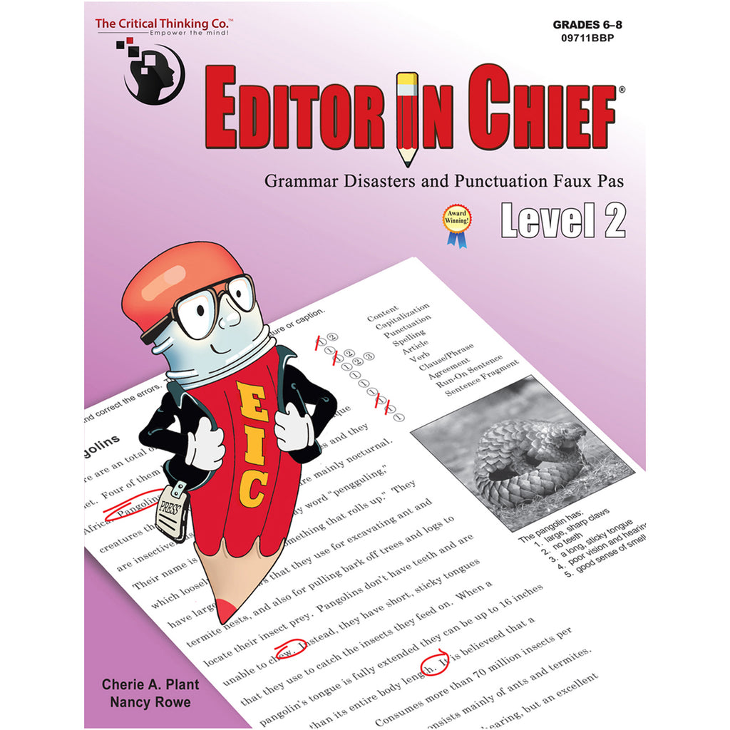 The Critical Thinking Co. Editor in Chief® Level 2