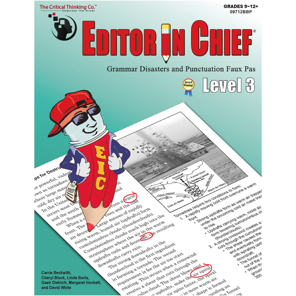 The Critical Thinking Co. Editor in Chief® Level 3