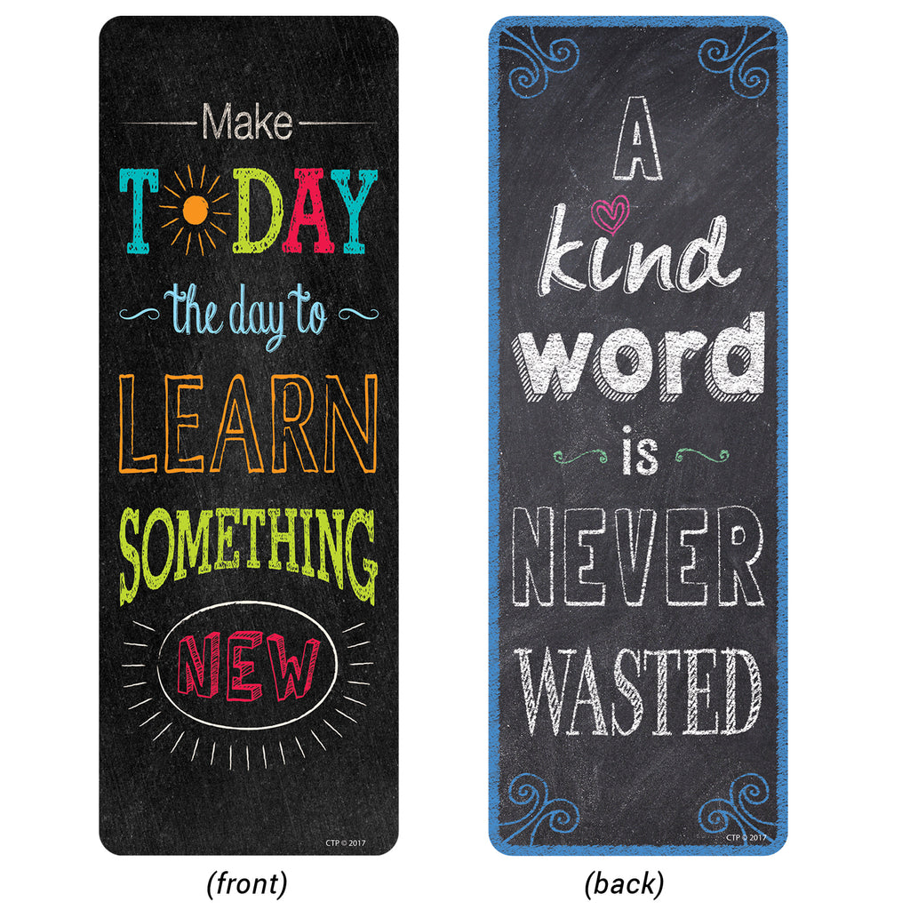 Creative Teaching Press Chalk It Up! Motivational Quotes Bookmarks