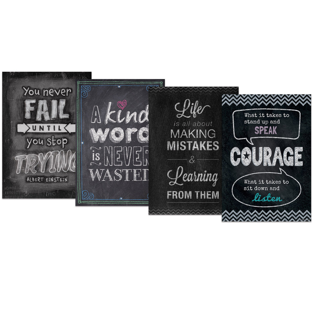 Creative Teaching Press Chalk It Up! Inspire U… Poster Pack 4