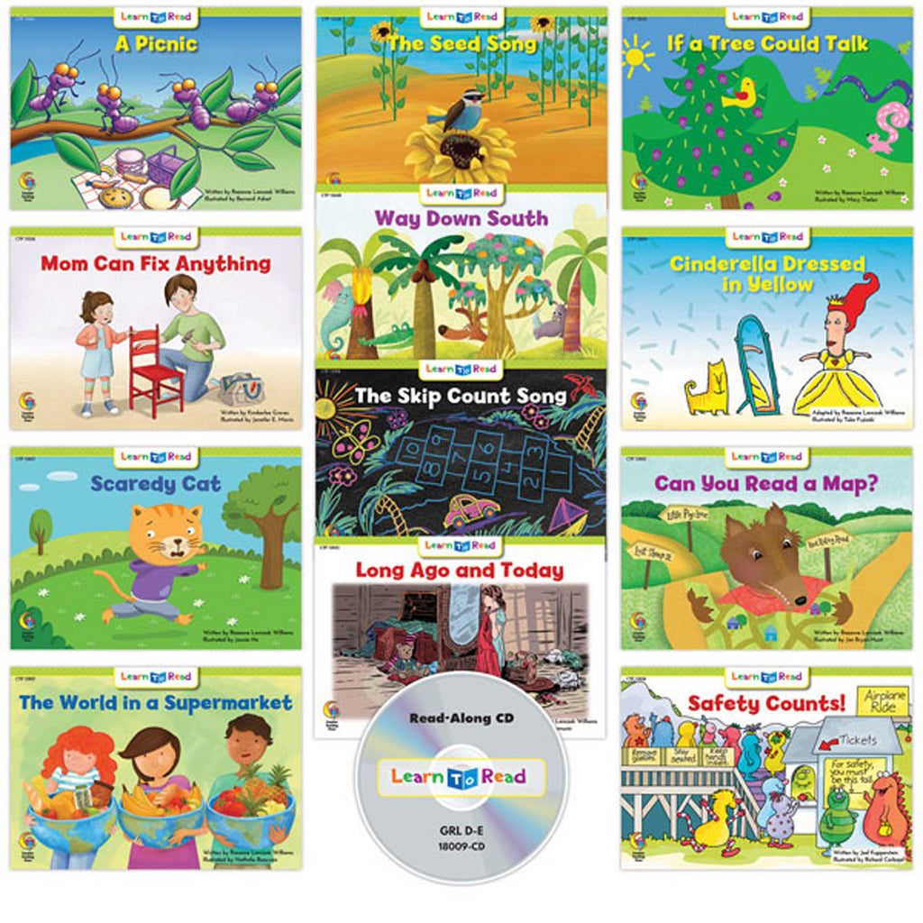 Creative Teaching Press Learn to Read: Variety Pack 9 with CD, Level D–E
