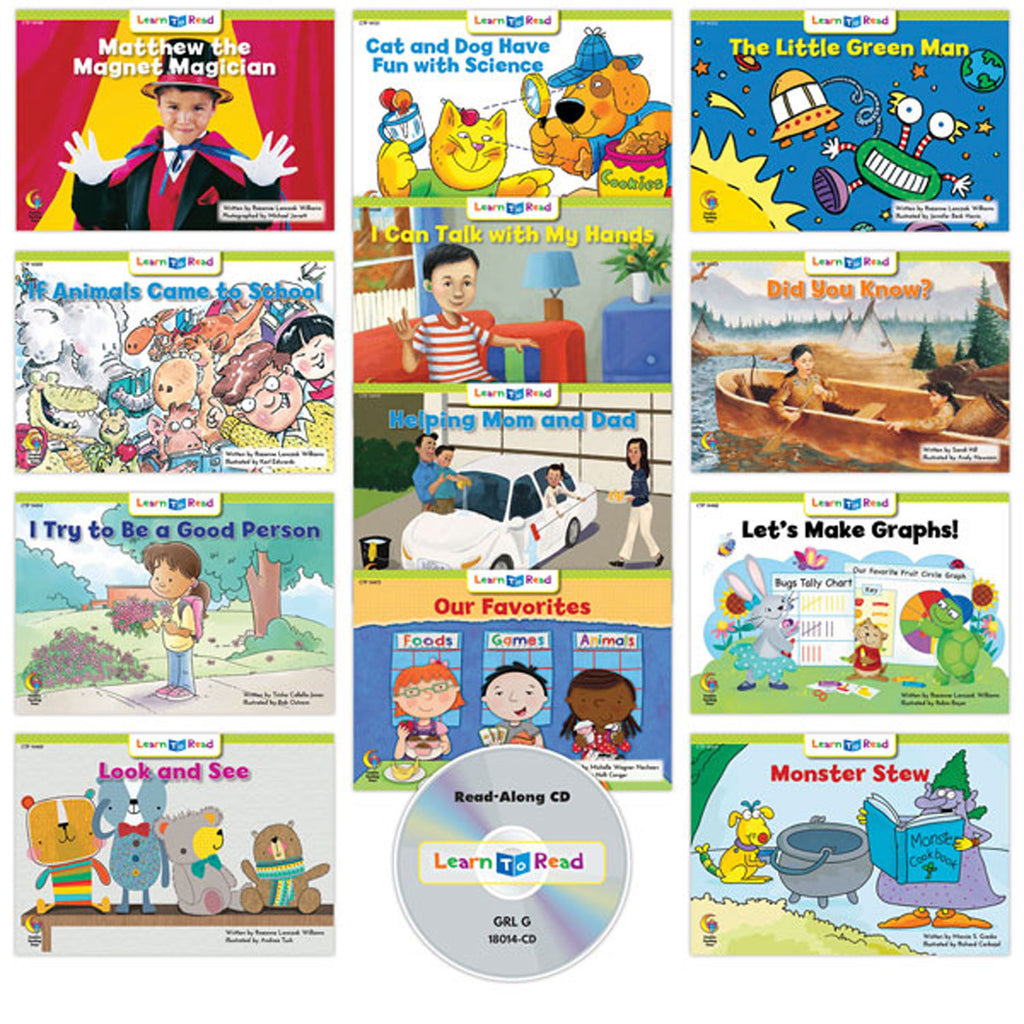 Creative Teaching Press Learn to Read: Variety Pack 14 with CD, Level G