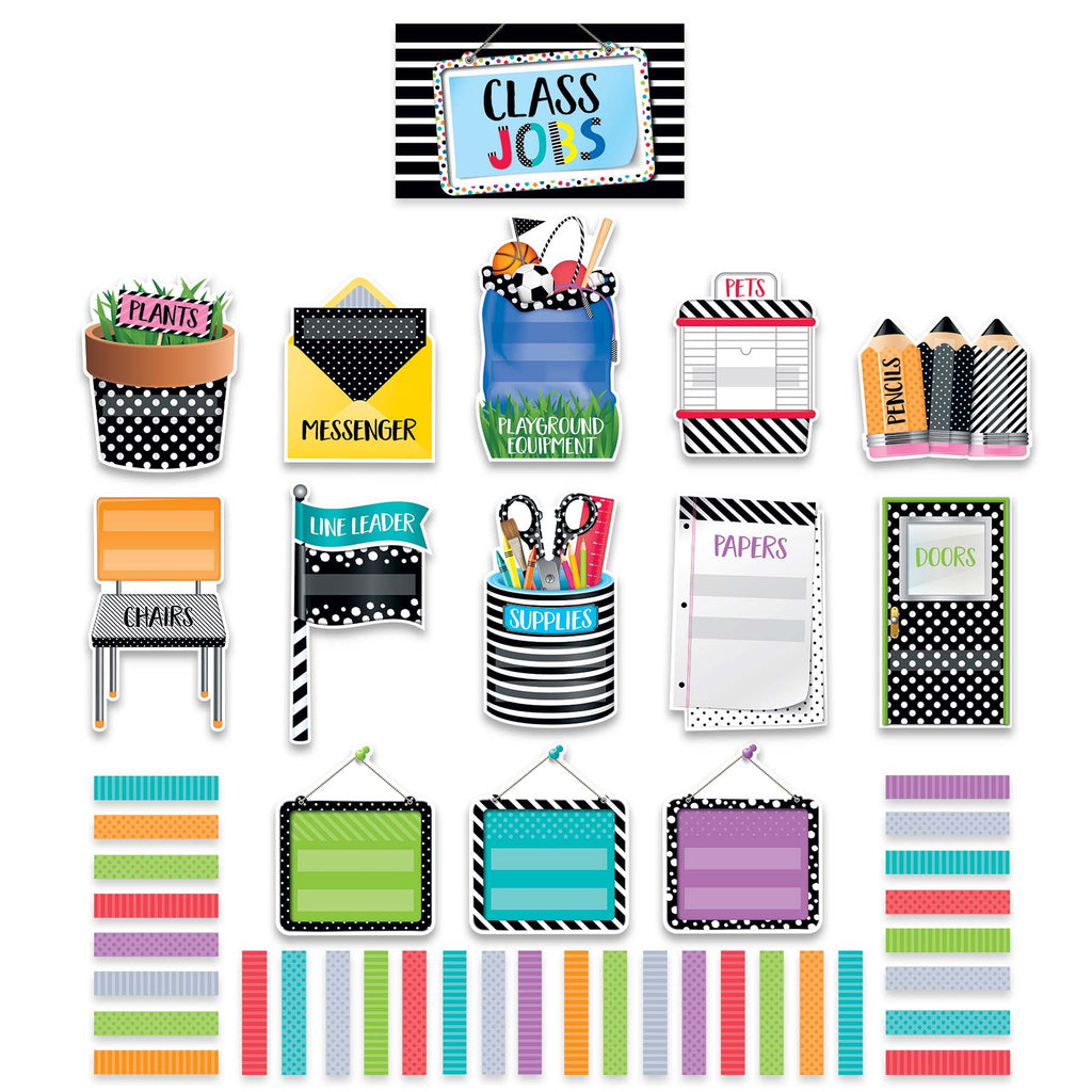 Creative Teaching Press Bold & Bright Class Jobs Mini Bulletin Board Set