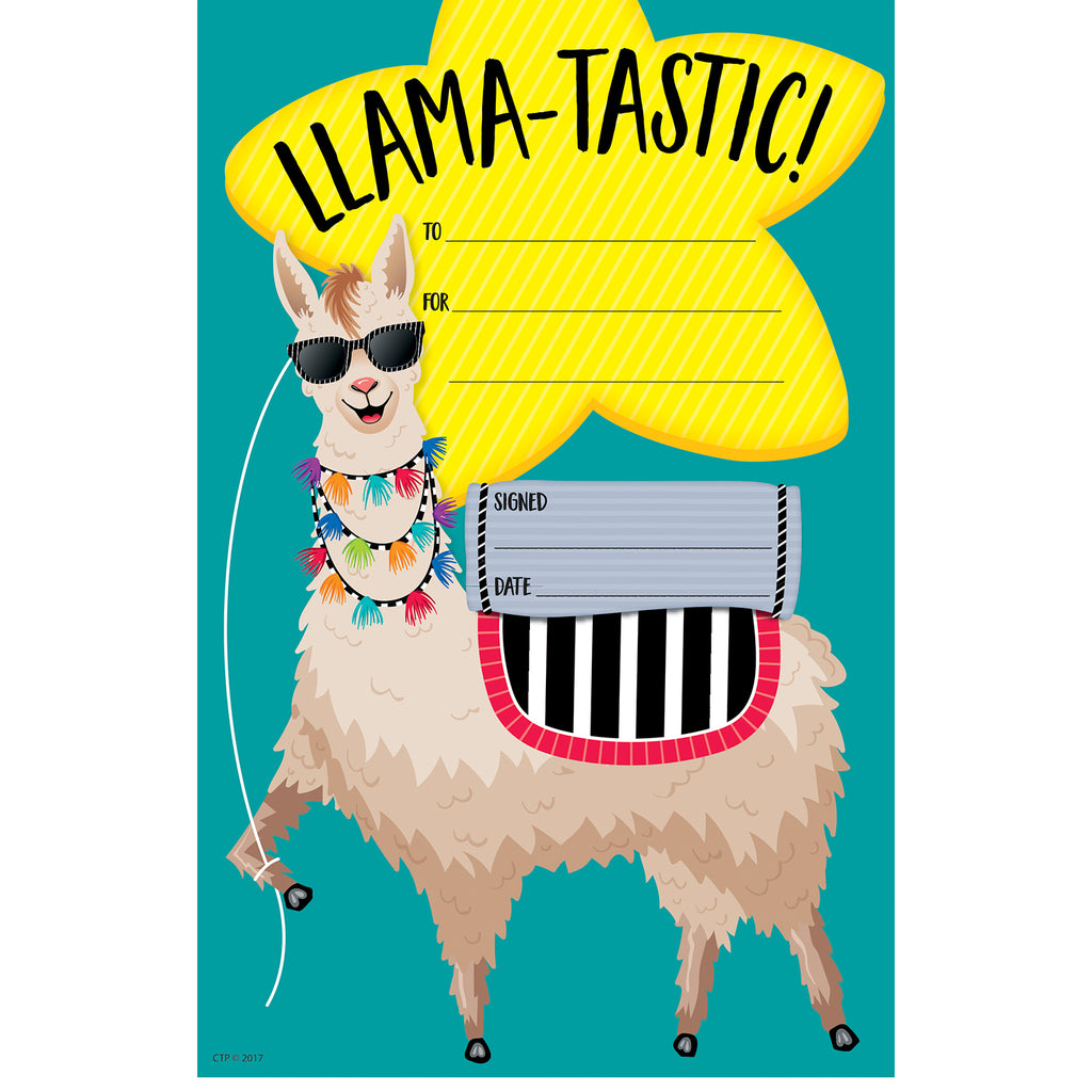 Creative Teaching Press Bold & Bright Llama-tastic Award