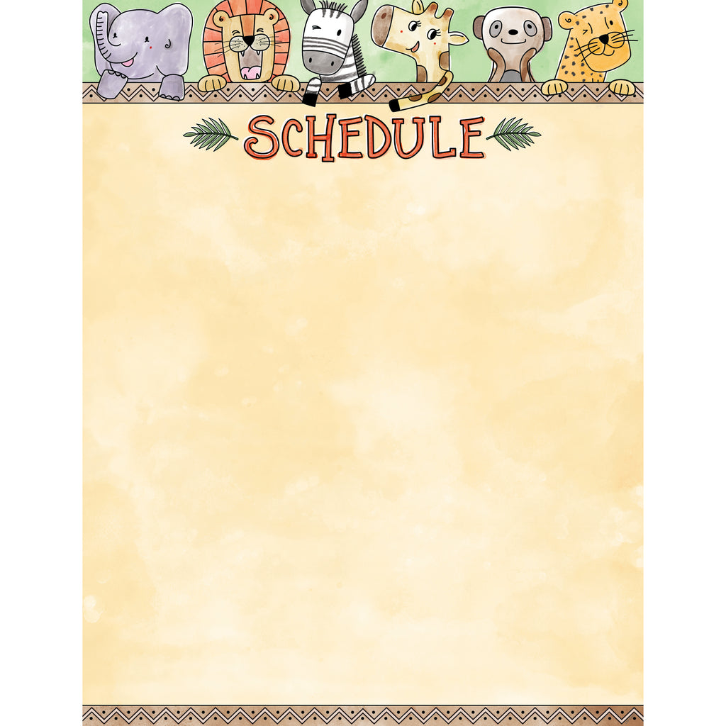 Creative Teaching Press Safari Friends Schedule Chart