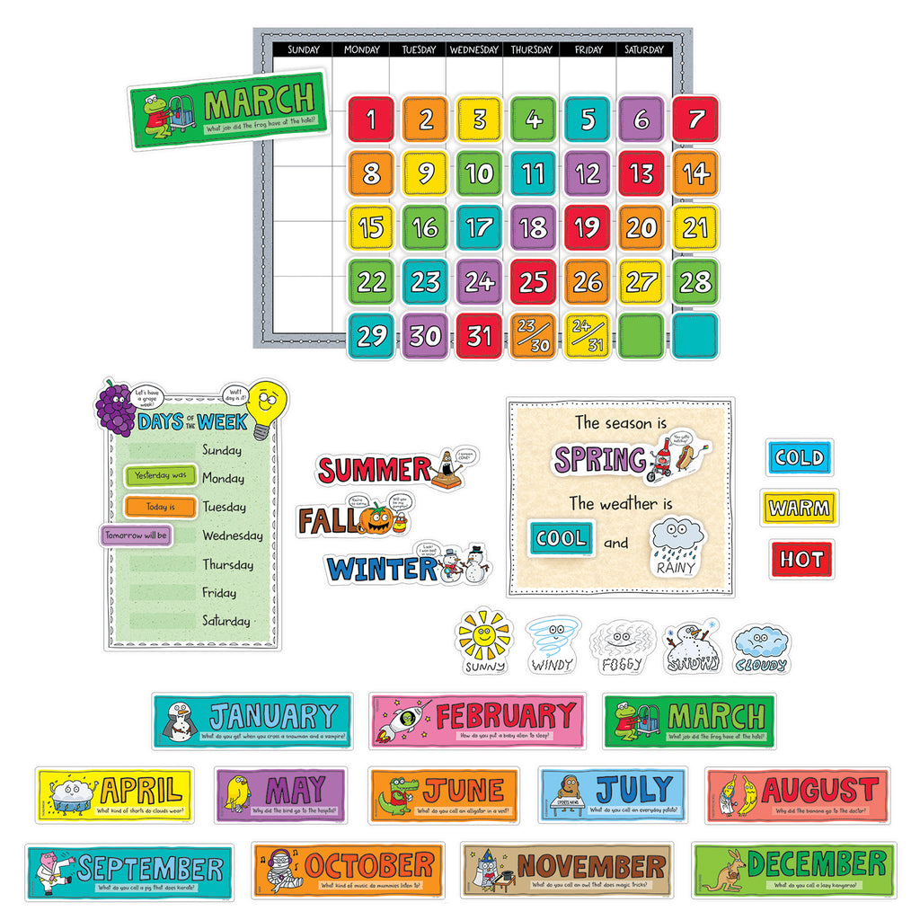 Creative Teaching Press So Much Pun! Calendar Bulletin Board Set