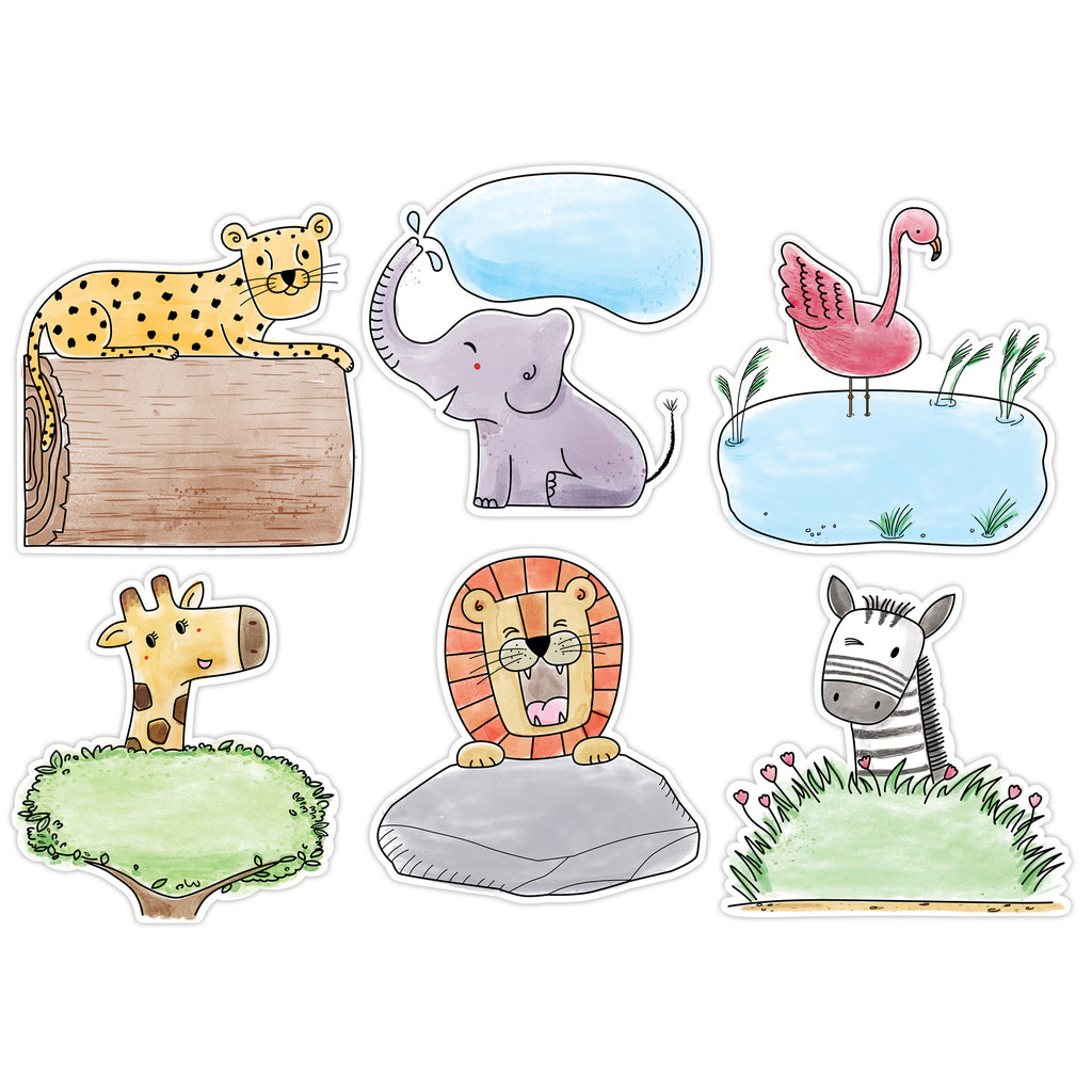 "Creative Teaching Press Safari Friends 10"" Designer Cut-Outs"