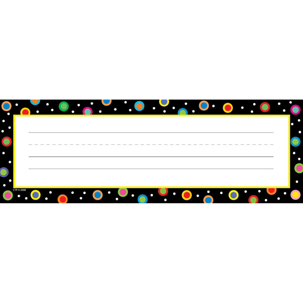 Creative Teaching Press Dots On Black Name Plates