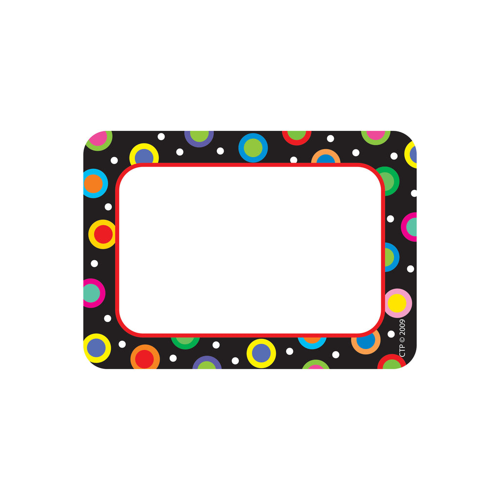 Creative Teaching Press Dots On Black Name Tags