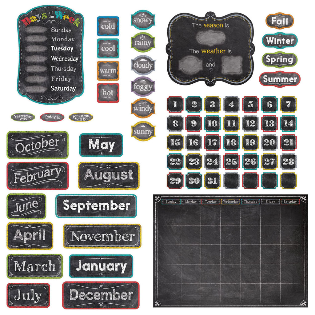 Creative Teaching Press Chalk It Up! Calendar Set