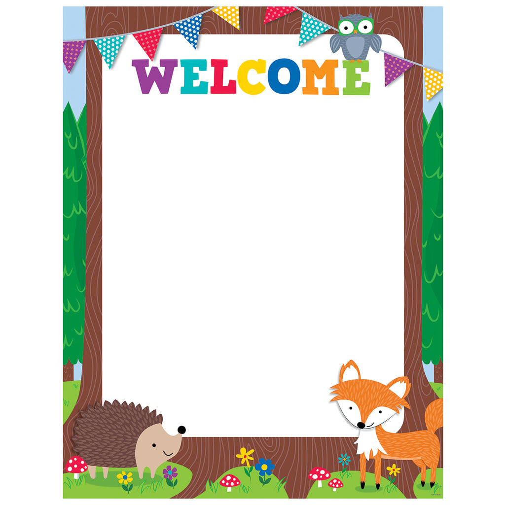 Creative Teaching Press Woodland Friends Welcome Chart