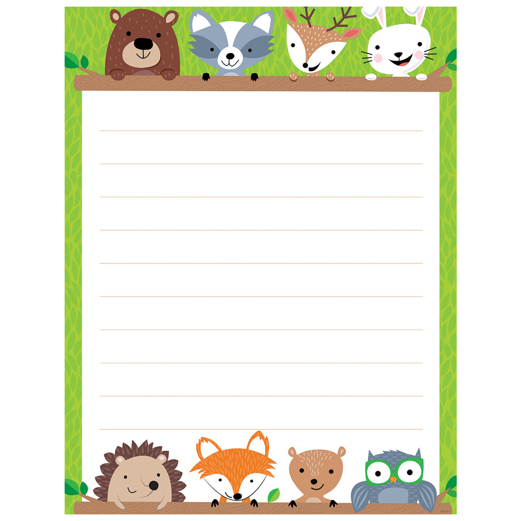 Creative Teaching Press Woodland Friends Blank Chart, Lined