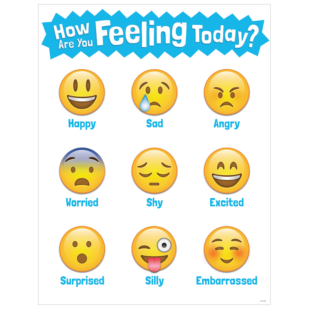 Creative Teaching Press How Are You Feeling Today? Emoji Chart