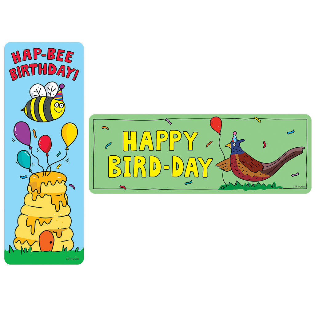 Creative Teaching Press So Much Pun! Hap bee Birthday Bookmarks
