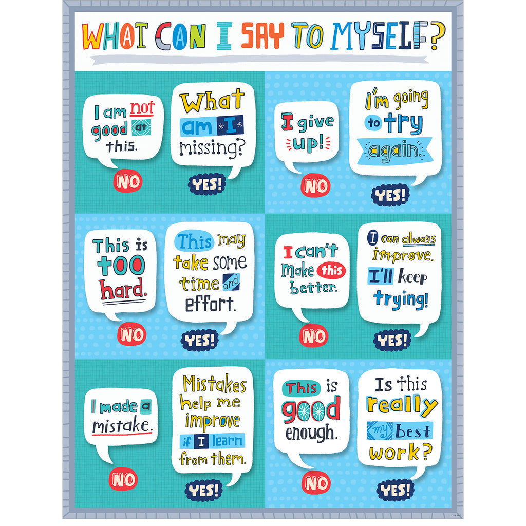Creative Teaching Press What Can I Say to Myself? Chart