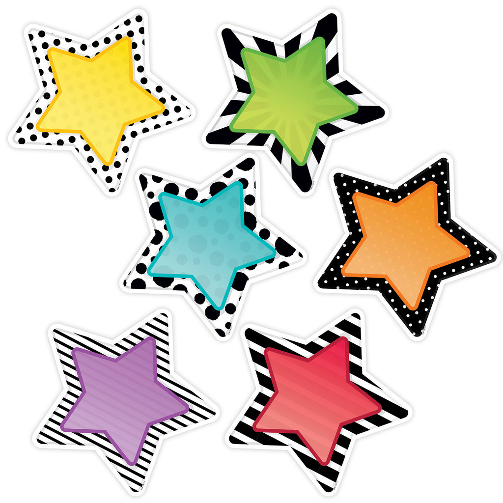 "Creative Teaching Press Bold & Bright Stars 10"" Designer Cut-Outs"