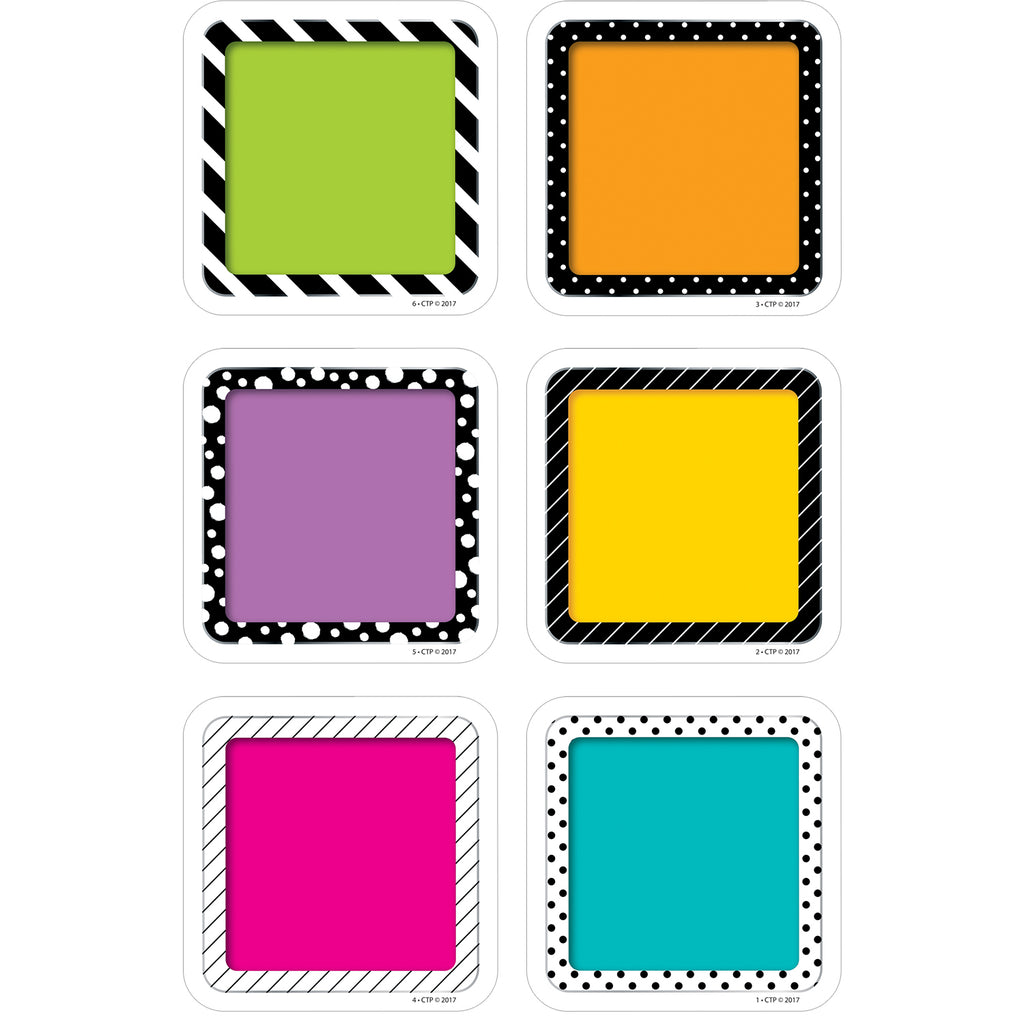 "Creative Teaching Press Bold & Bright Colorful Cards 3"" Designer Cut-Outs"