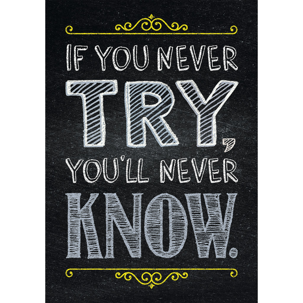 Creative Teaching Press If you never try… Inspire U Poster