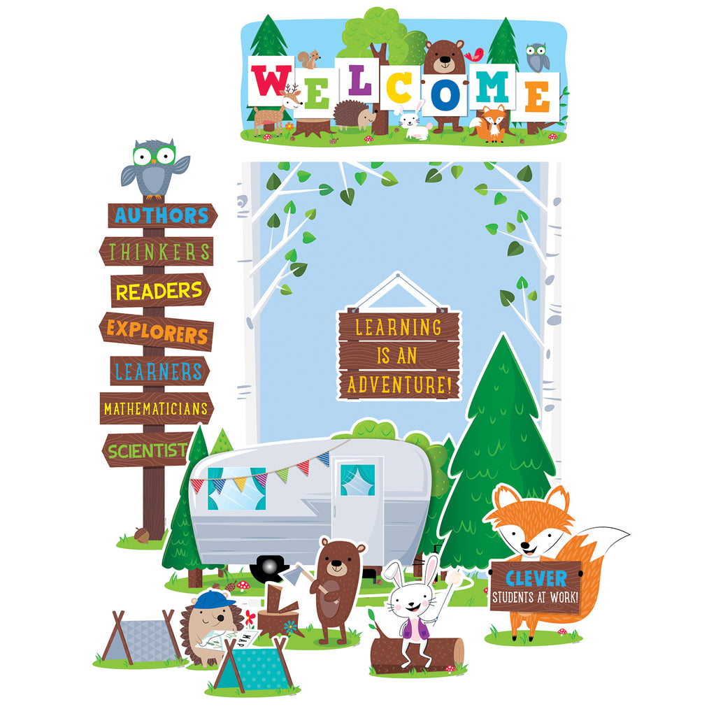Creative Teaching Press Woodland Friends Woodland Welcome Bulletin Board Set