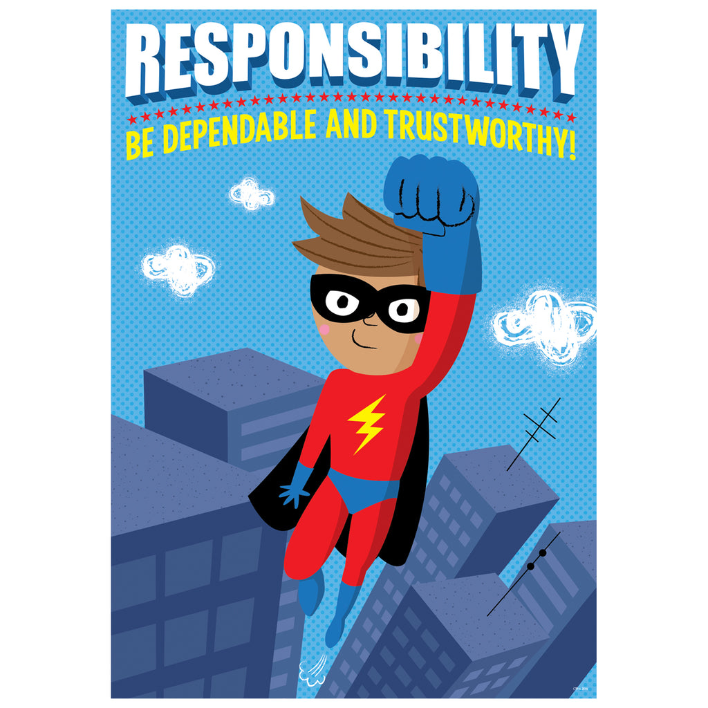 Creative Teaching Press Responsibility Superhero Inspire U Poster