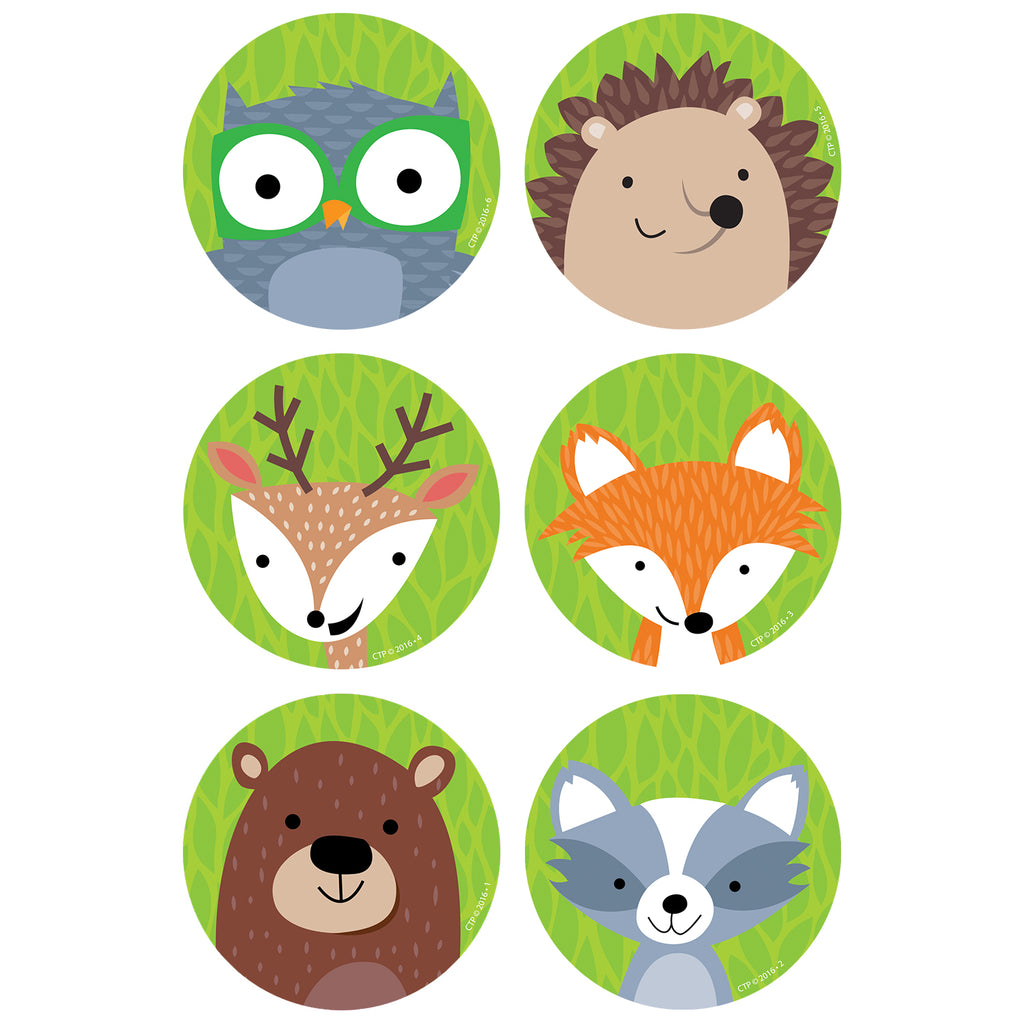 "Creative Teaching Press Woodland Friends 3"" Designer Cut-Outs"