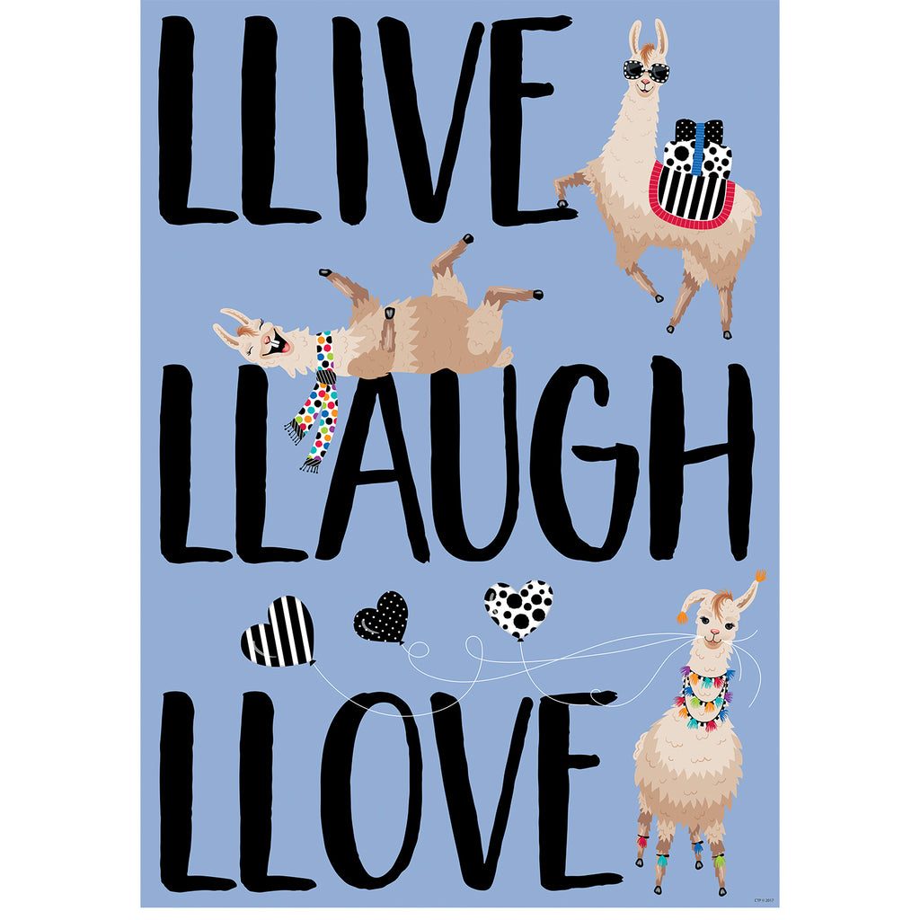 Creative Teaching Press Llive. Llaugh. Llove. Inspire U Poster