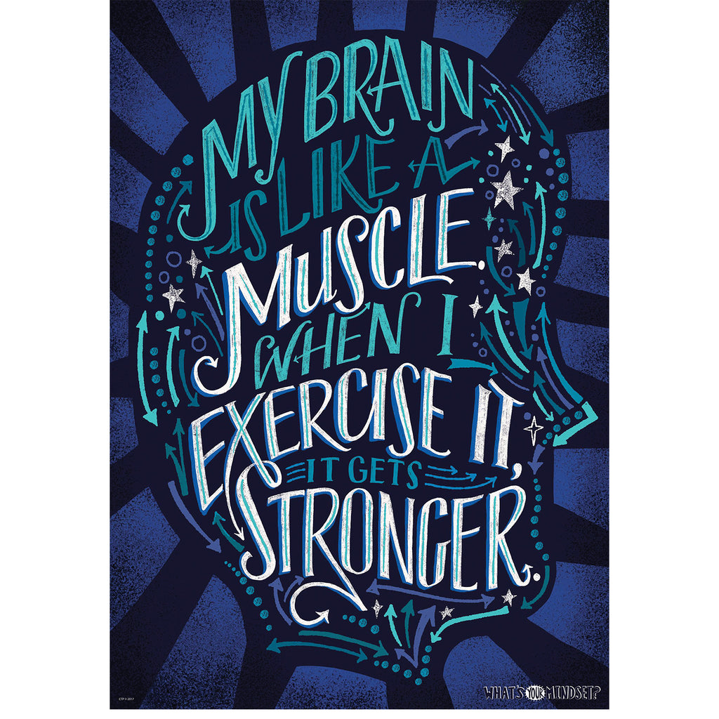 Creative Teaching Press My brain is like a muscle… Inspire U Poster