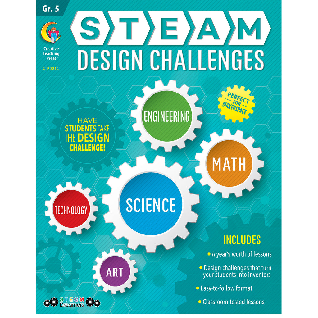 Creative Teaching Press STEAM Design Challenges Resource Book, Grade 5