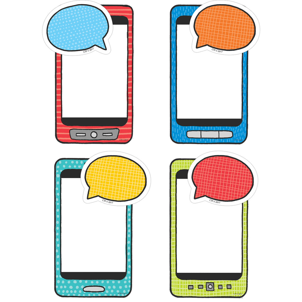 "Creative Teaching Press Student Smartphones 6"" Designer Cut-Outs"